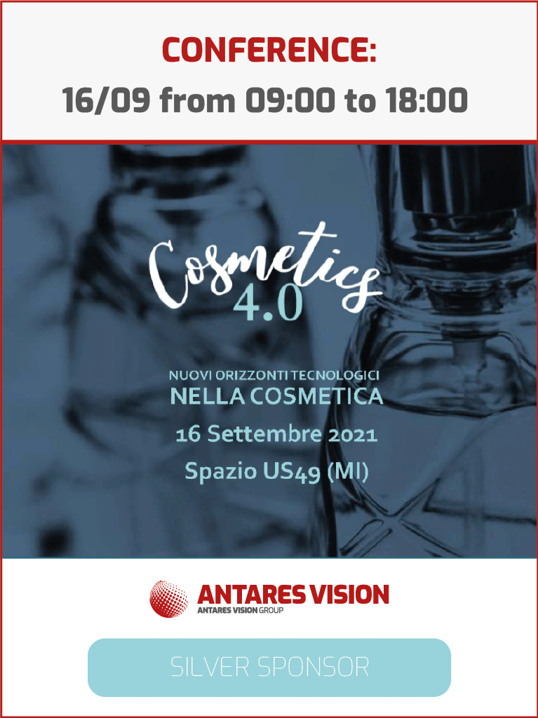 Antares Vision Silver Sponsor @ Cosmetics 4.0 Conference